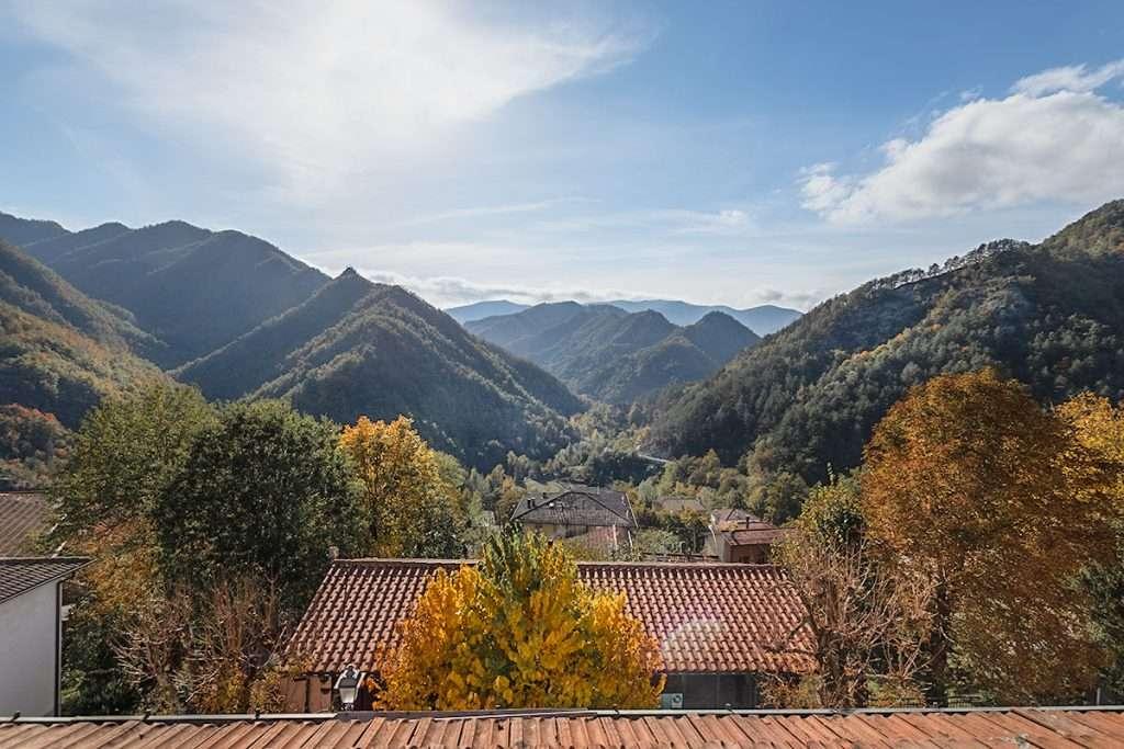 Vista panoramica Albergo Pini. Corniolo
